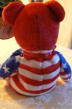 "Vintage Ty Beanie Babies Liberty "" The Bear "" Hang Tag 2001/Tush Tag 2002 Errors image 3"