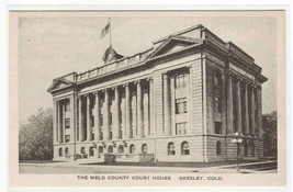Court House Weld County Greeley Colorado Albertype postcard - $6.93