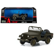 Jeep CJ-5 Army Green The A-Team (1983-1987) TV Series 1/43 Diecast Model Car  by - $27.20