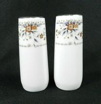 """Salt & Pepper Shakers Wade Sone """"Claremont"""" Fine Porcelain China Japan - $27.71"""