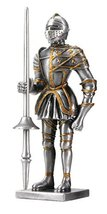Pewter Spanish Knight Statue Figurine Decoration - $19.79