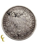 1870-A France 5 Francs (VF) Very Fine Condition - ₹7,772.17 INR