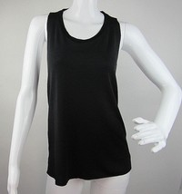 Express Women's Tank Top Black Sleeveless Classic Neck Blouse Stretch Si... - $16.82