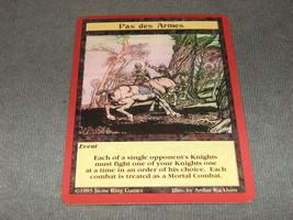 Quest For the Grail 1995 CCG: Event - Pas de Armes - $11.00