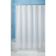 InterDesign Carlton Fabric Shower Curtain, Stall 54 x 78, White Set of 1 - $51.84