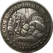 New Hobo Nickel 1879 Bondage BDSM Tied Up Sexy USA Morgan Dollar Casted ... - $11.99