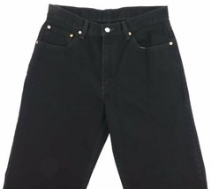 LEVI RED TAG Men's Black Straight Leg Fit Size 34 x 32 Zipper Fly Cotton EC image 2