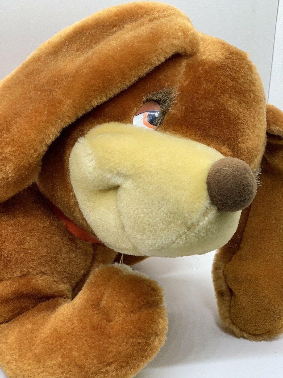 "Sunburst Pets 1983 Vintage Plush Brown Dog Commonwealth Vtg Stuffed Animal 13"""