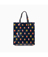 LINE Friends Burger & Chips Pattern Tote Bag Cosmetics Travel Eco Charac... - $54.22