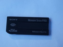 Genuine Sony 256 MB Memory Stick Pro Duo Memory Card MSX-256S Made In Japan - $14.84