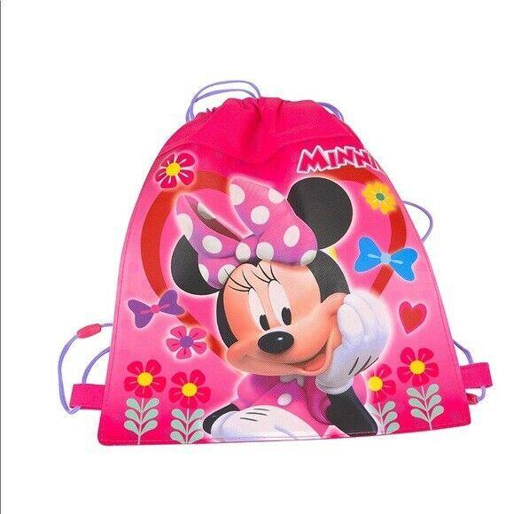 Disney Junior Minnie Mouse Drawstring Sling Bag Backpack Bookbag Kids - $6.88