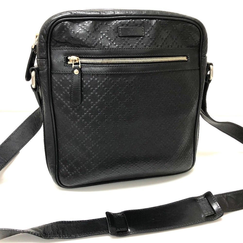9e3b3fc3a2be40 S l1600. S l1600. AUTHENTIC GUCCI Diamante Leather Pochette Crossbody  Shoulder Bag Black 201448; AUTHENTIC ...