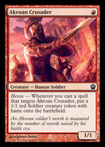 Magic The Gathering-Theros-Akroan Crusader  - $0.19