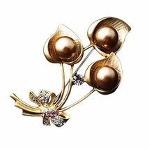 Vintage Breast Pin Brooch Alloys Flower Brooch Pins Rhinestone Jewelry Brooches