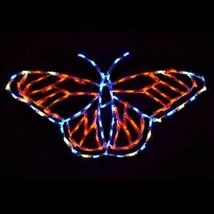 NEW Springtime Monarch Butterfly Outdoor LED Lighted Decoration Steel Wi... - $217.79