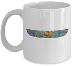 Esoteric coffee mug - Egyptian God Hadith HADIT - winged globe Thelema 93 gifts - $20.90