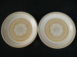 Two Franciscan Hacienda Gold Salad Plates - $12.00