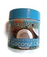Maui & Sons 100% Extra Virgin Coconut Oil 4 Oz Jar Aceite de Coco de la ... - $8.45