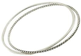 Apop Nyc 925 Sterling Silver Bangle Bracelet - Set Of 2 - $222.86