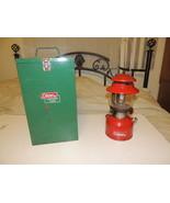 Vintage COLEMAN LANTERN 200 Red With Metal Case 1968 - $86.19