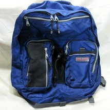 Eddie Bauer Backpack Multi Pocket Blue Padded Straps School Hiking Camping - $28.99