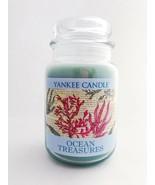New Yankee Candle OCEAN TREASURES 22 oz Jar Candle Coral Beachy Nautical - $28.99