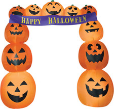 Airblown Archway Pumpkins Banner Inflatable Yard Decor Prop Halloween Gemmy - $109.90