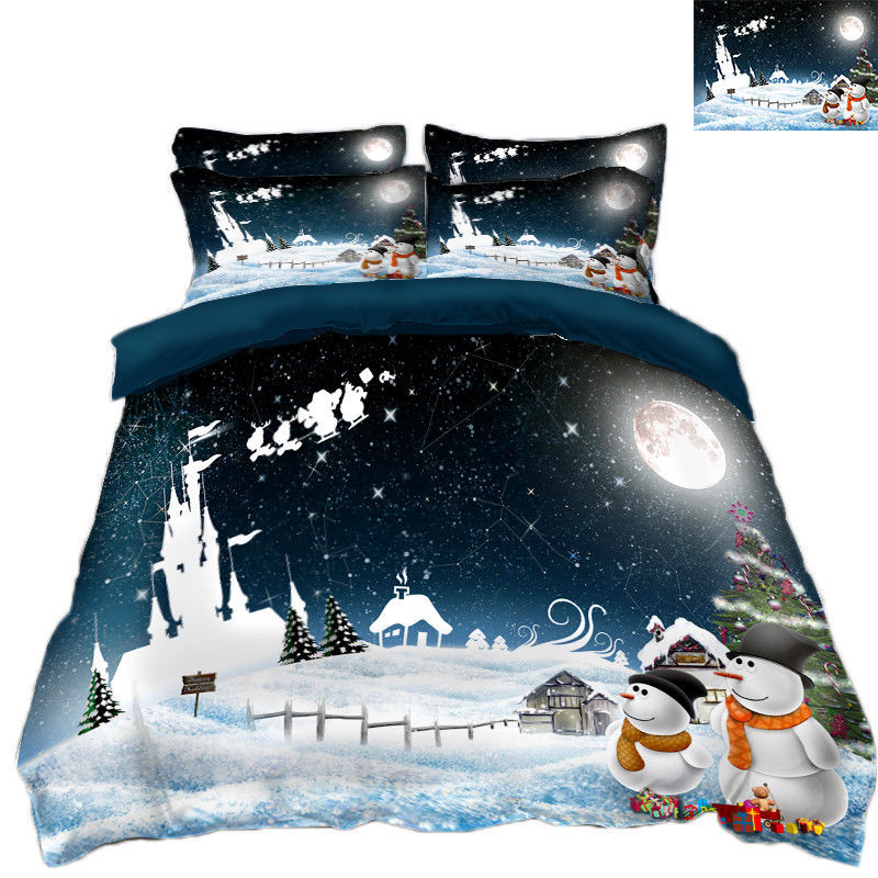3D Weihnachten  Xma 201 Bett Kissenbezüge steppen Duvet Decken Set Single DE
