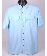 Field & Stream Fishing Shirt-Light Blue-Button Front-Pockets-L-Outdoor-Men - $28.04