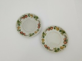 Wedgwood Quince Coffee Saucers Set of 2 Made in England Oven to Table Tea - $18.37