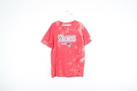 NFL Mens Medium New England Patriots Spell Out Acid Wash Short Sleeve T-Shirt - $34.60