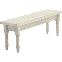 Rustic Dining Bench Distressed Solid Wood Farm House Kitchen Weathered F... - £188.74 GBP