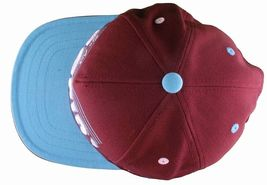 Flat Fitty On And Popin Burgundy Carolina Blue SnapBack Baseball Cap Hat NWT image 7