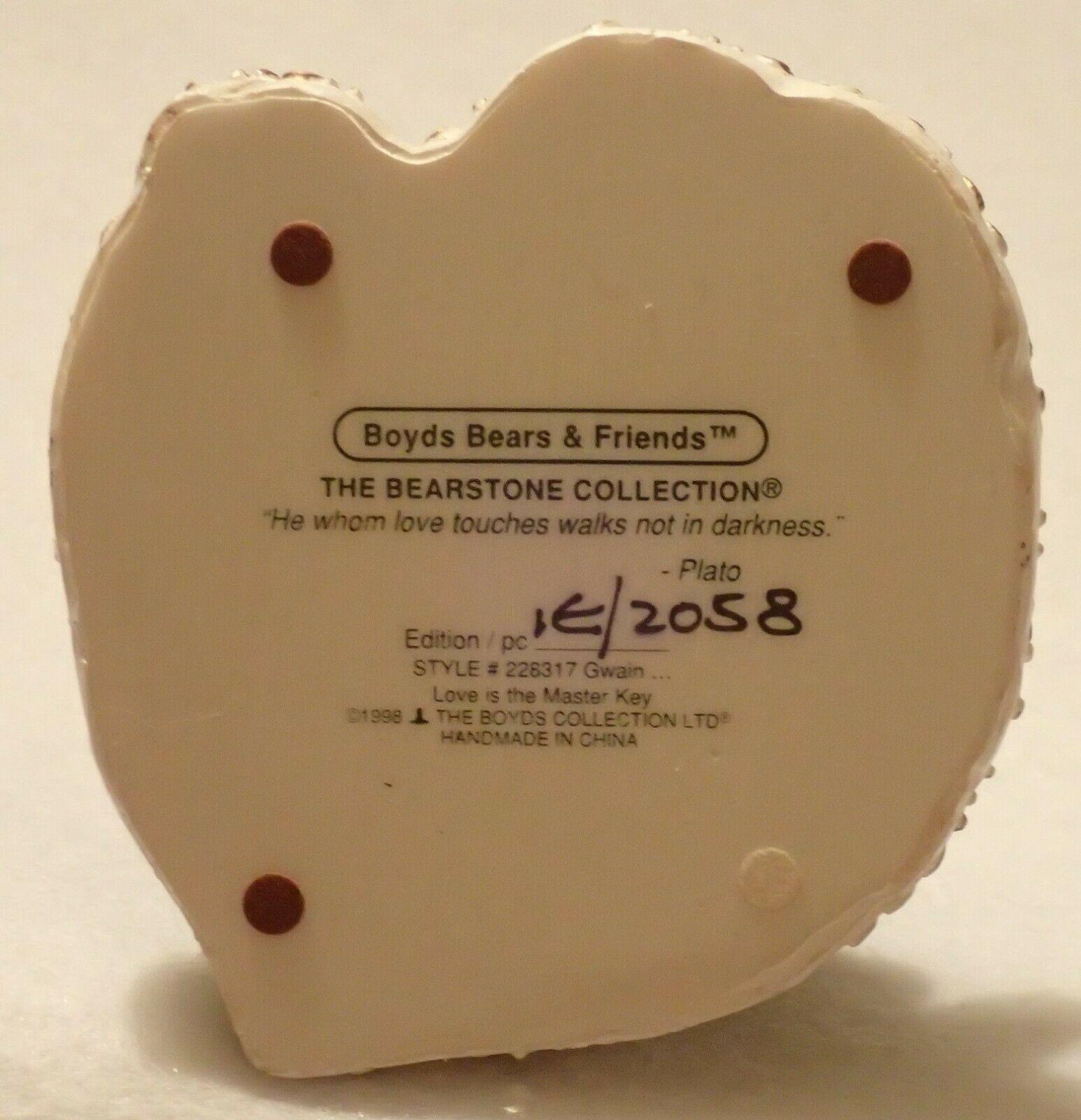 Boyd Bearstone Resin Bears Gwain Love Is The Masterkey Figurine #228317 1E image 4