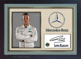 Lewis Hamilton signed autograph Mercedes Formula 1 photo print Framed - $19.27