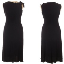 Armani Collezioni Dress Womens Size 8 Black Sleeveless Sheath Dress - $445.50