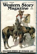 Western Story Magazine Pulp April 29 1922-  VG- - $94.58