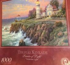 "Thomas Kinkade ""Victorian Light"" 1000 pc puzzle 27""x 20""  2001      mc 2   - $17.05"