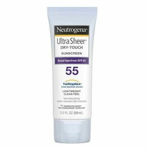 Neutrogena Ultra Sheer Dry Touch Sunscreen Lotion SPF 55 - 5 fl oz 10/21... - $9.74
