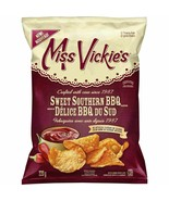 4 Bags Miss Vickies Kettle Cooked Potato Chips Sweet Southern BBQ 220g FRESH - $32.42