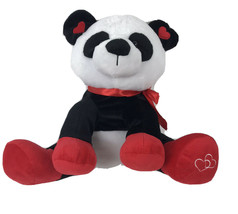 "Valentines Panda Bear 14"" Plush Hearts Ribbon - $17.32"