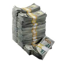 PROP MOVIE MONEY - New Style $250,000 Aged Blank Filler Package - $174.99
