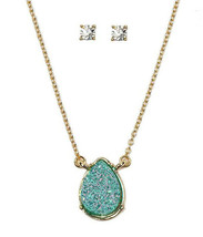 Necklace and Earring Set Druzy Drusy - $7.92
