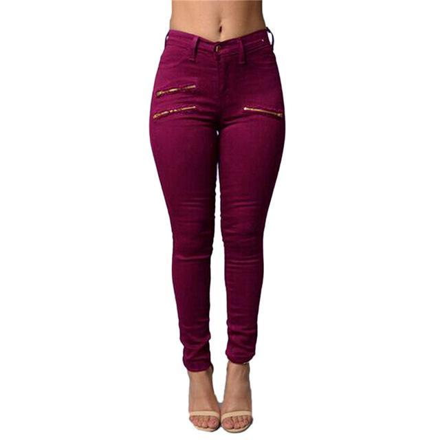 Zanzea New 2017 Spring and Summer  Women's Clothing Zippers Pencil Pants Ladies