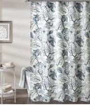 "Lush Decor Cynthia Jacobean Shower Curtain 72"" X 72"" Dusty Blue - $31.49"