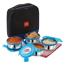 Cello Max Fresh Supremo Stainless Steel Tiffin Lunch Box Set, 300ml, Set... - $52.77 CAD