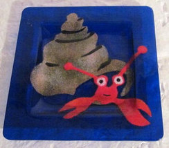 Pablo E Suz Handmade Fused Glass Triangle Shape Table Display -Signed by Artist image 3