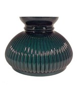 Ribbed Green Cased Glass 7 in Student Lamp Shade Table Desk Wall Pole Ch... - $44.95