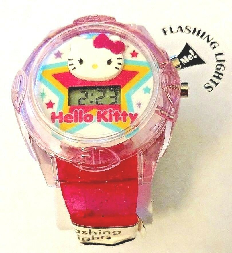 346d70a307365b Hello Kitty Flashing LCD Quartz Watch and 50 similar items. S l1600