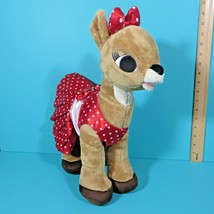 Build A Bear Clarice Rudolph Red Nosed Reindeer Girl Plush Red White Dot... - $14.95